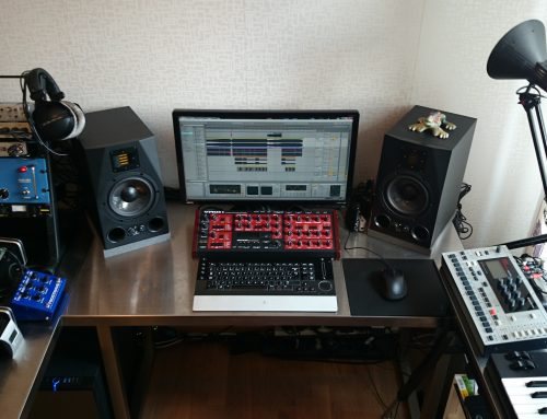 New photo of my studio together with the Adam A7X monitors