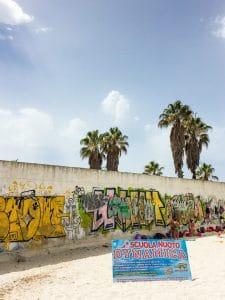 Alghero beach wall