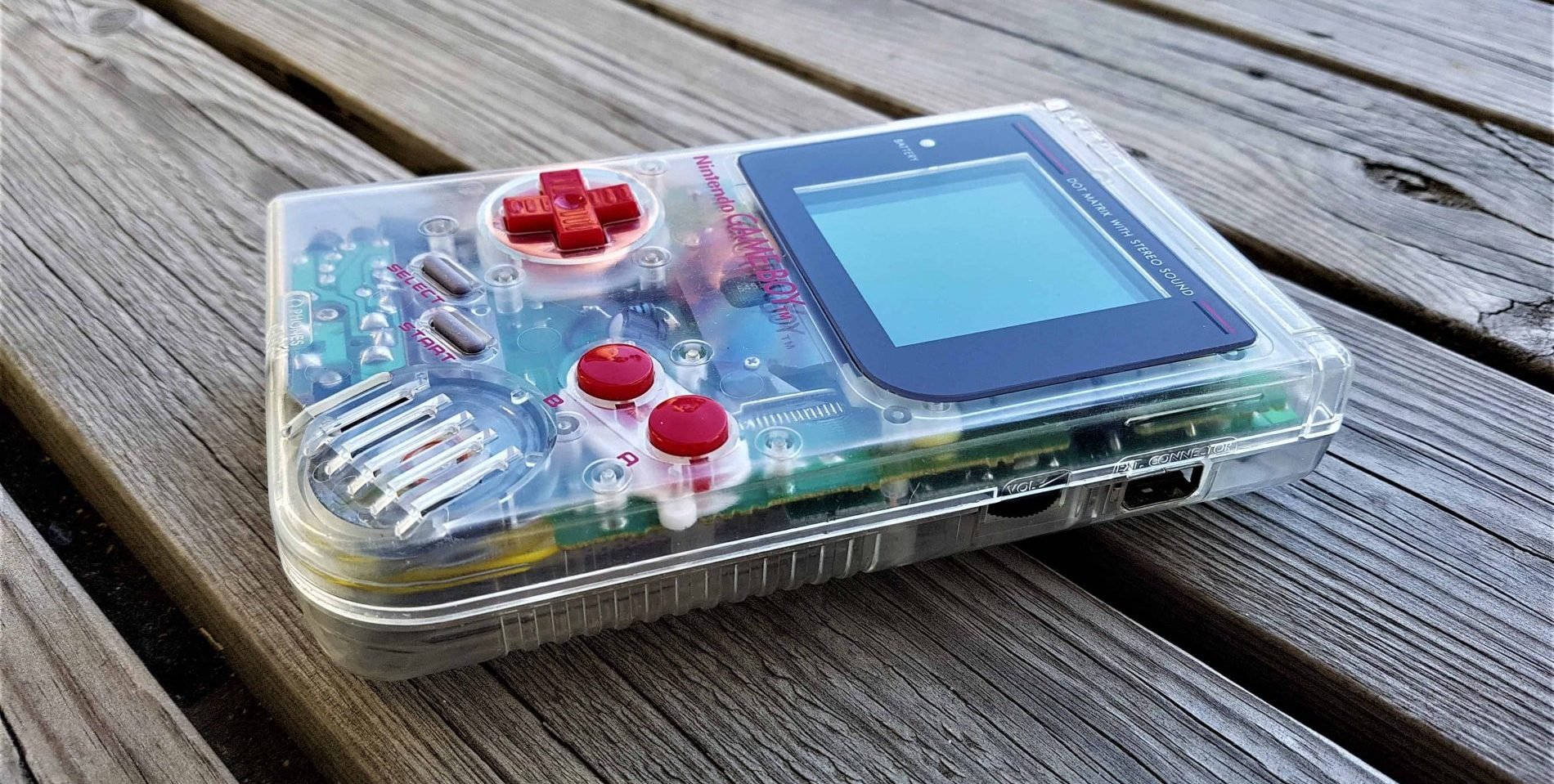 Game Boy Clear / Crystal with mods