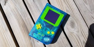 Modded Game Boy with shell