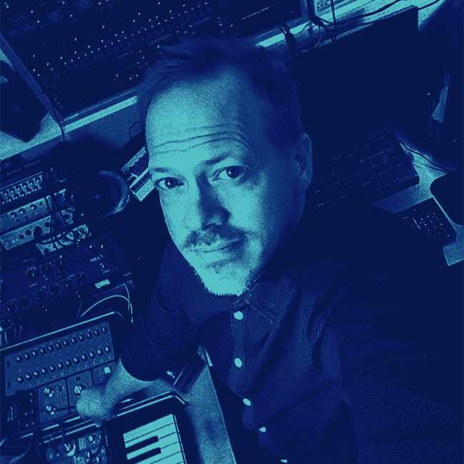 Björn Fogelberg in the studio 2018