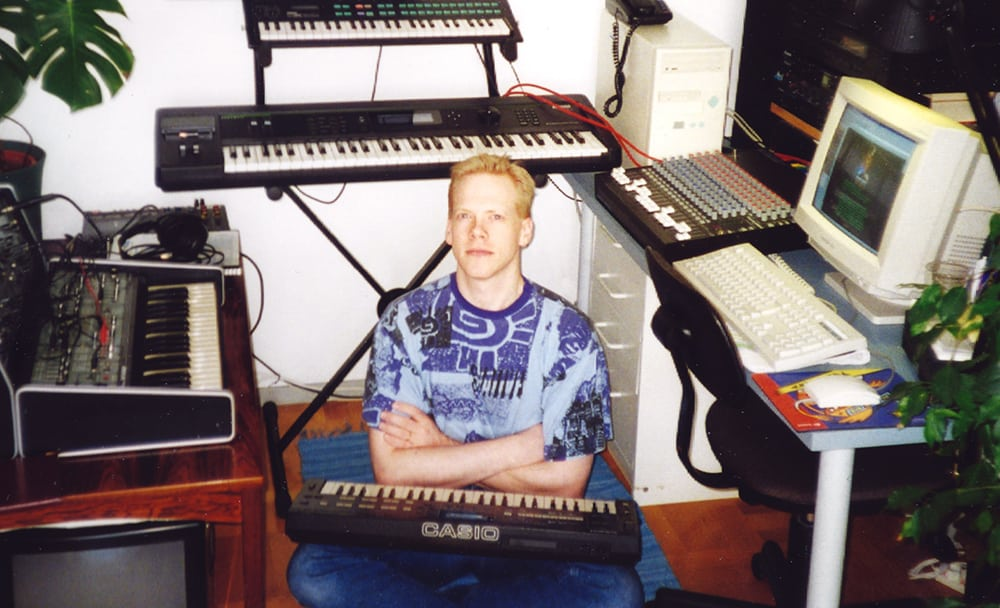 In the studio around 97-98