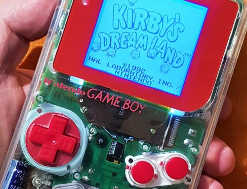 Game Boy Clear with red screen and buttons
