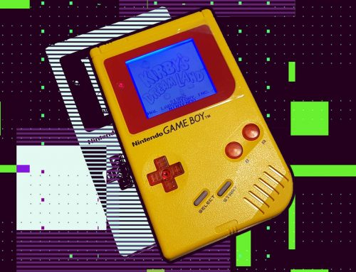 Yellow modded Game Boy Play it Loud
