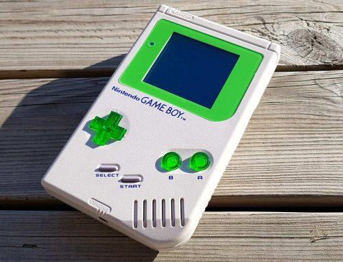 Game Boy DMG-01 Grey + Green, refurbished and modded