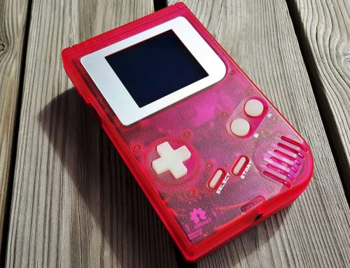 Modded Game Boy DMG-01 Purple + Silver