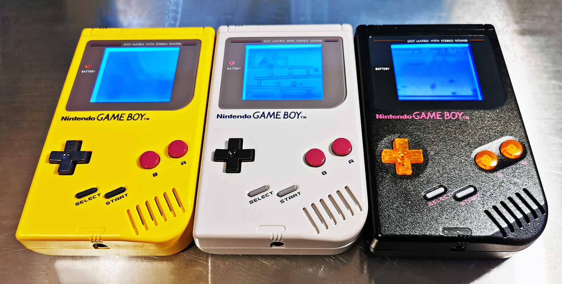 Game Boy DMG-01 Yellow, Gray, Black