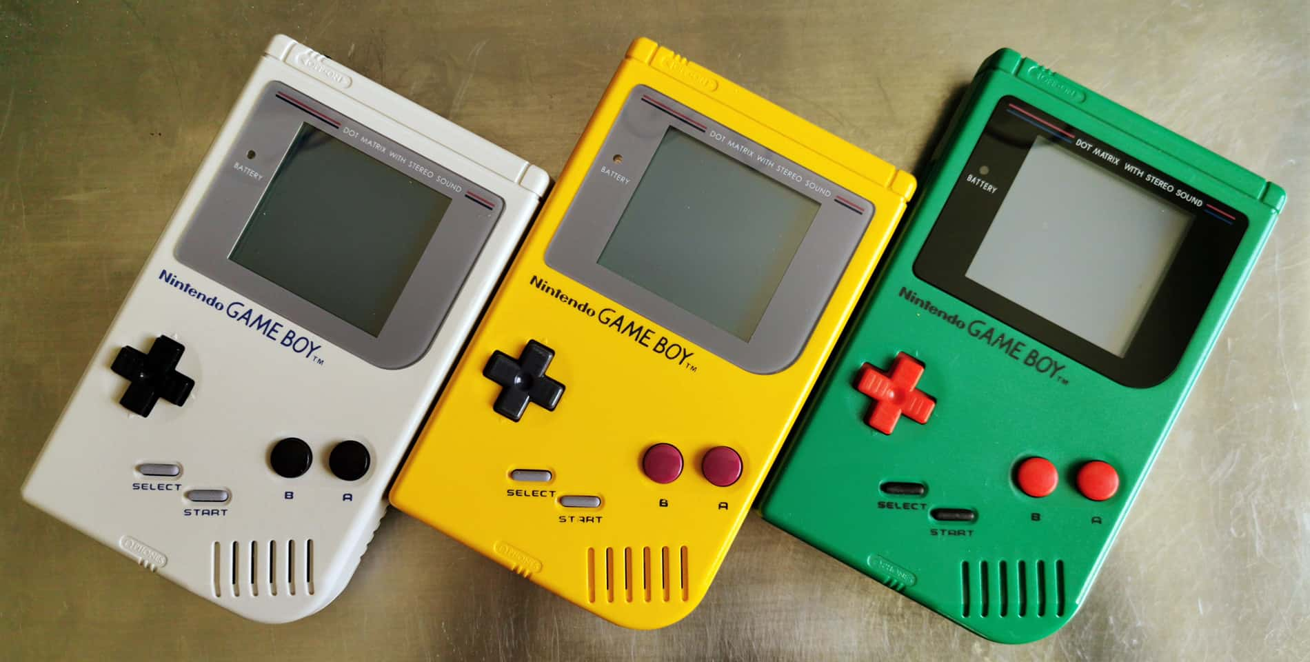 Gameboy Gray, Yellow, Green
